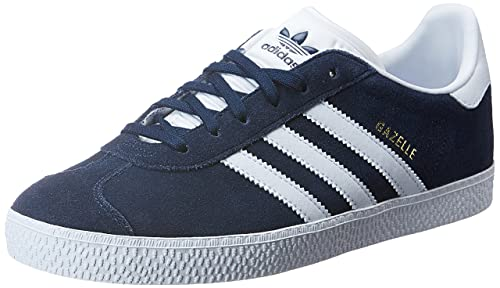 Adidas Gazelle J, Scarpe da Fitness Unisex-Bambini, Blu (Maruni/Ftwbla