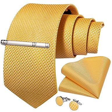 DiBanGu - Juego de gemelos para hombre, corbata de seda maciza y ...