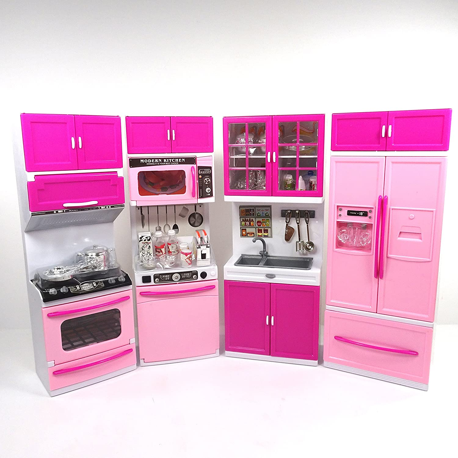 Barbie Kitchen Furniture Amazoncom Envo Toys Large Xxl Doll Play Kitchen For Toddlers Toy
