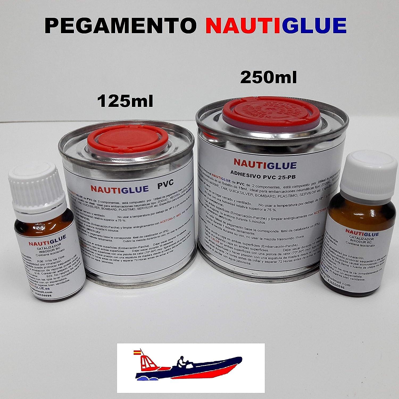 Nautiglue Pegamento para la reparación de Zodiac y neumáticas de PVC (125 mililitros): Amazon.es: Bricolaje y herramientas