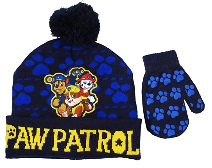 1d5036adee91 Amazon.com  Nickelodeon Toddler Boys Paw Patrol knit Winter Beanie ...