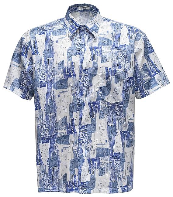 Thai Silk Camisa Casual - Paisley - con Botones - para Hombre: Amazon.es: Ropa y accesorios