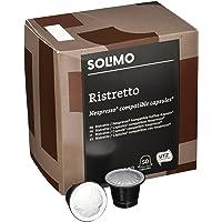 Marca Amazon- Solimo Cápsulas Ristretto, compatibles con Nespresso- café certificado UTZ, 100 cápsulas (2 x 50)
