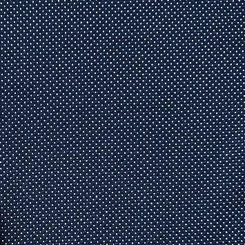 NAVY blau strukturiert Heavy Jersey Stoff, mit Pin Point Polka Dot ...