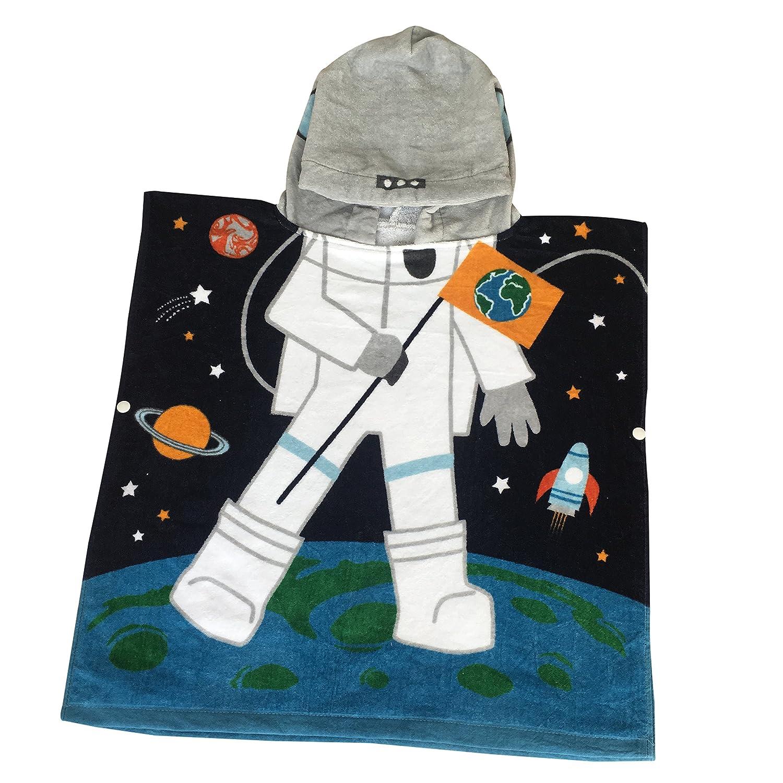 Kids Hooded Poncho Towels Dream Astronaut Beach Swimming Pool Bath Towel for Girls&Boys Bavilk