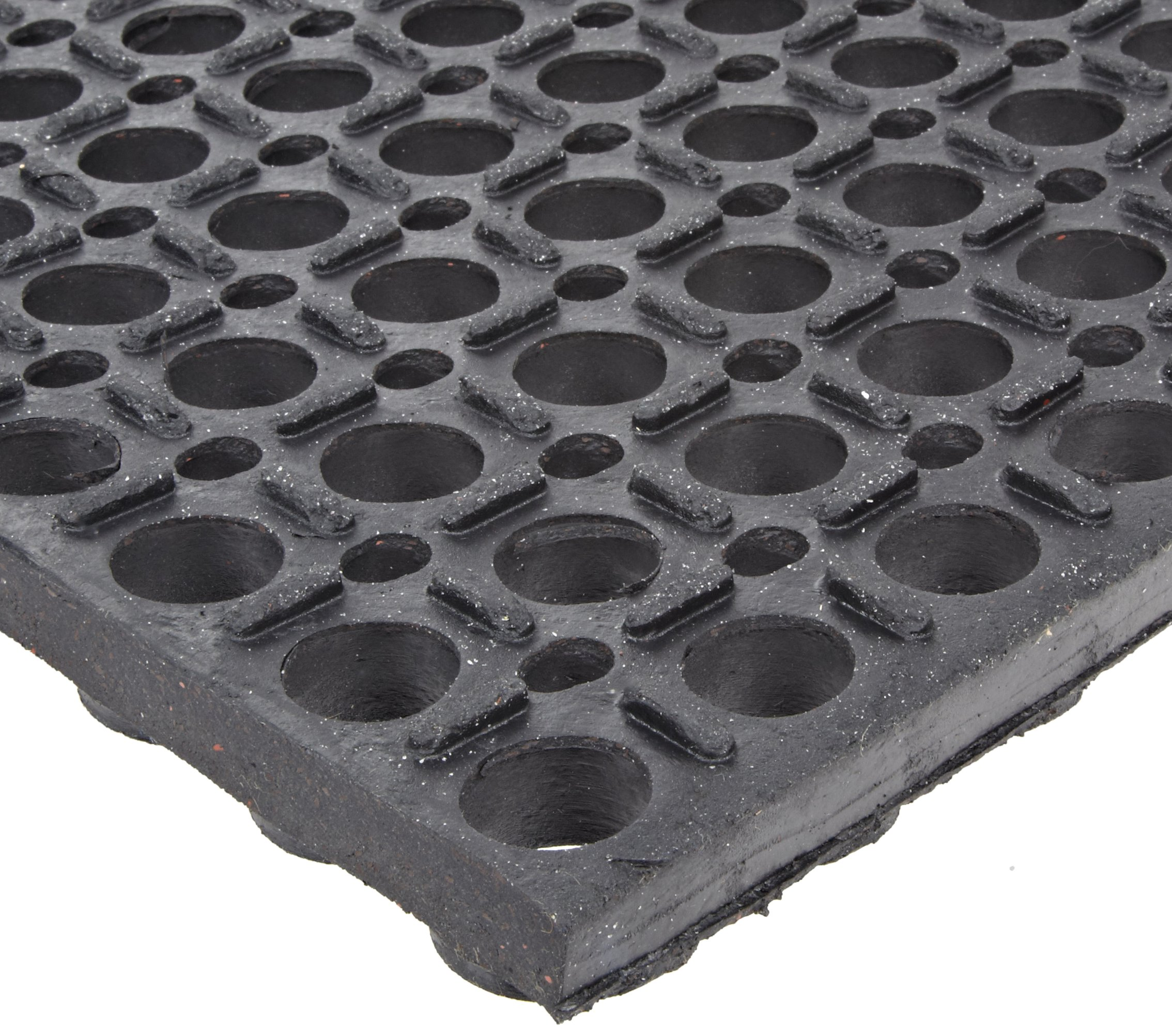 NoTrax T13 General Purpose Rubber Tek-Tough Safety/Anti-Fatigue Mat, for Wet or Greasy Areas, 3' Width x 2' Length x 7/8'' Thickness, Black by NoTrax Floor Matting (Image #2)
