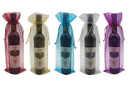 Amazon Ankirol 20pcs Sheer Organza Wine Bags 55x145 Inch