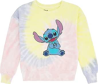 Freeze Disney's Stitch Girls Tie Dye Sweatshirt