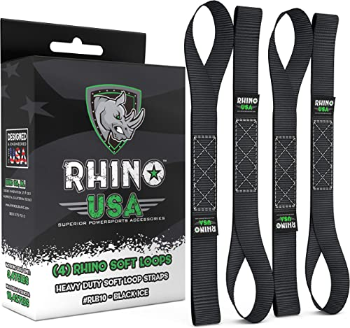 RHINO USA Soft Loops Motorcycle Tie Down Straps