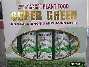 All Purpose Super Green Plant Food - 36ml x 10 Per Box