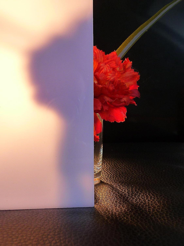 Polycarbonat Platte 600 x 500 x 4 mm Milchglas 30 /% Lichtdurchl/ässigkeit Zuschnitt alt-intech/®