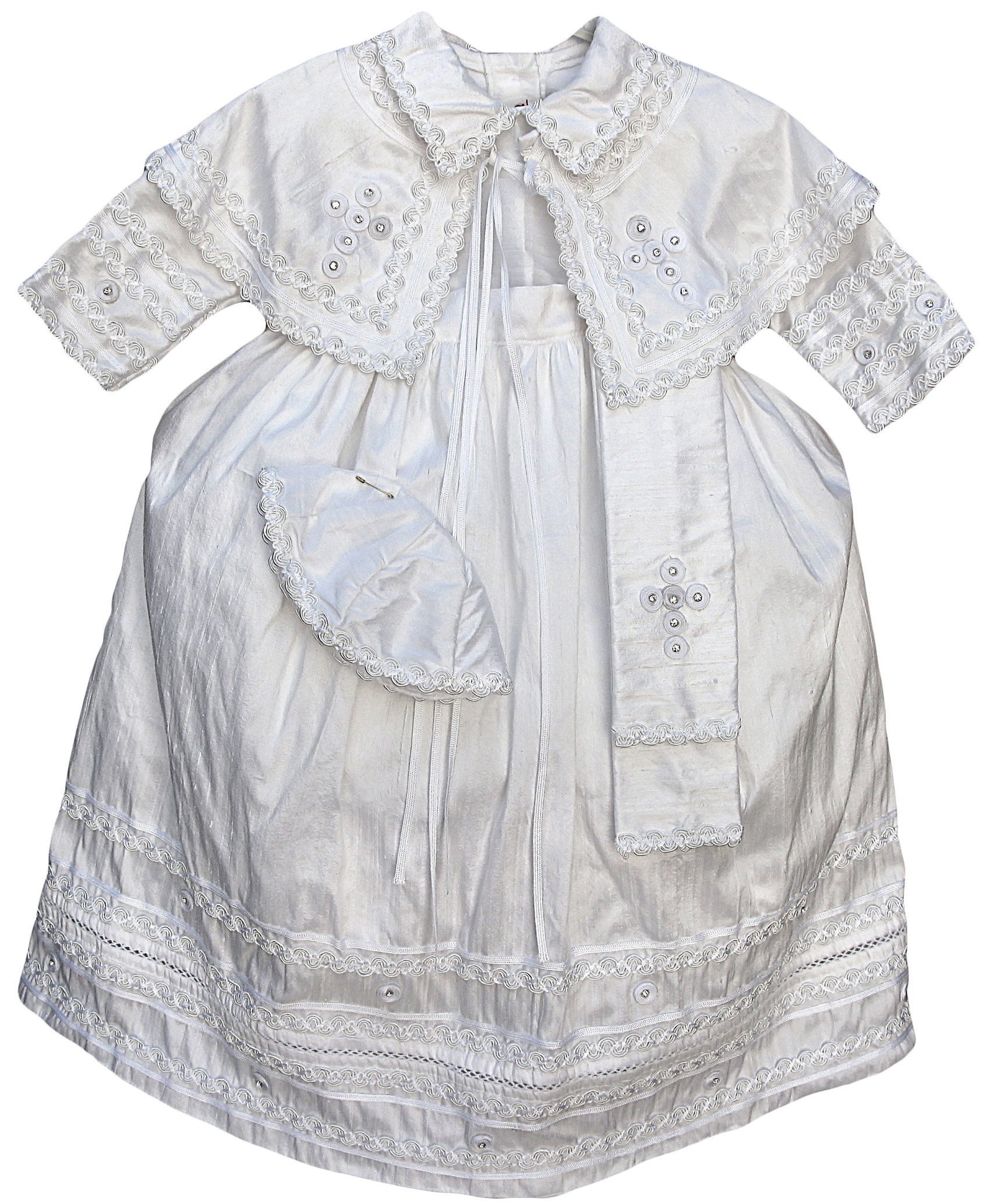 Baby Boy Christening Outfit Pope Style, Baptism gown catholic Pope (Burbvus) (12-24 Months, White)