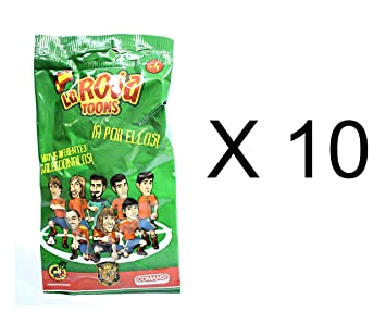Pack of 10 - La Roja Toons Official Spanish Team 7cm Football Figures in Blind Suprise