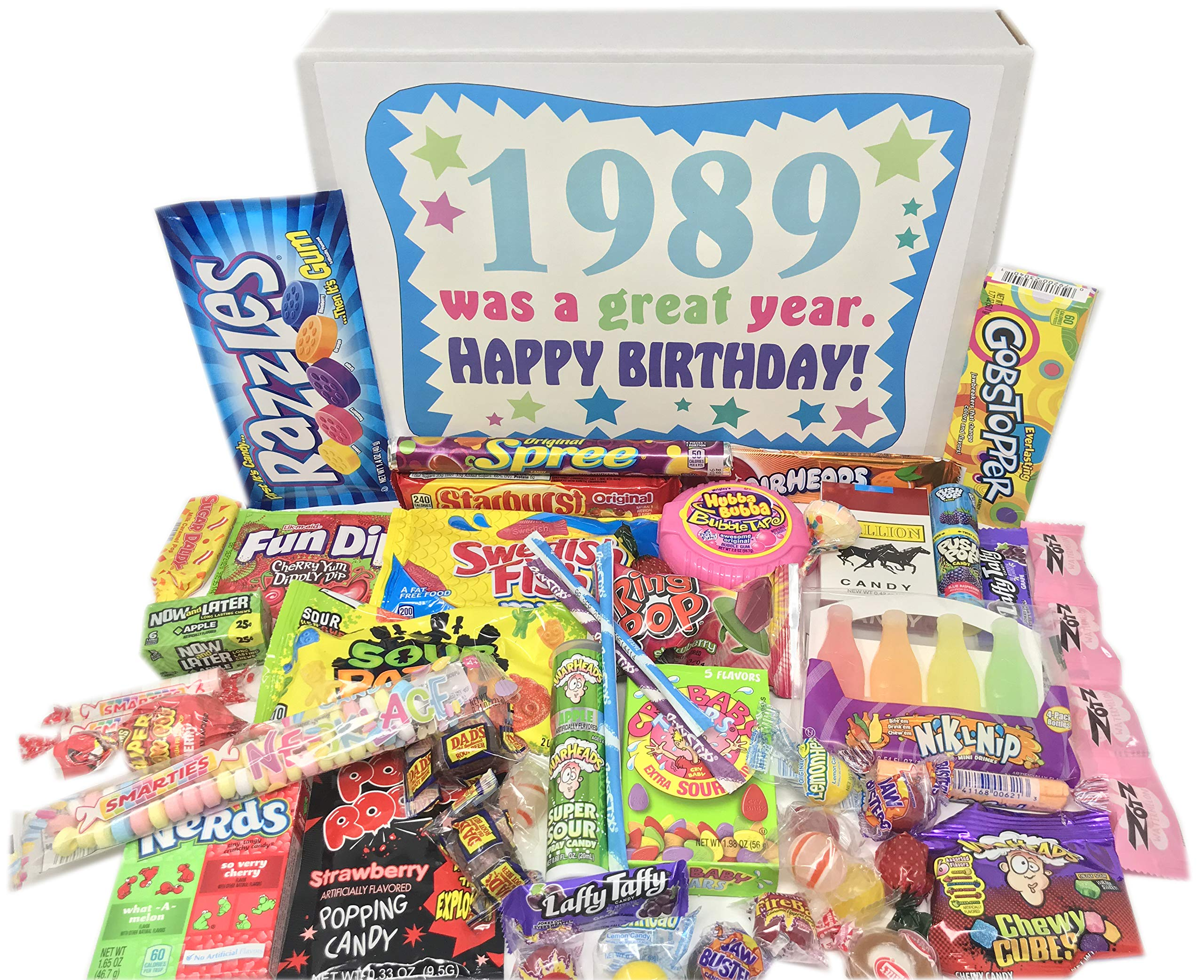 Woodstock Candy ~ 1989 BIRTHDAY GIFTS -30th Birthday Gift Ideas - Retro Nostalgic Candy Assortment from Childhood - 30th Birthday Gifts for Men and Women 1989 Candy Box by Woodstock Candy