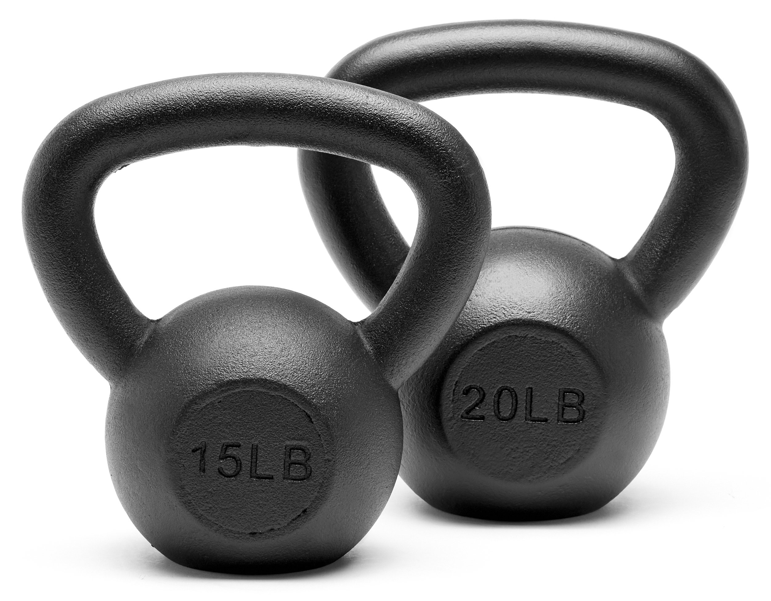Unipack Powder Coated Solid Cast Iron Kettlebell Weights Set- 15lb+20lb