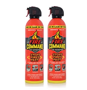 Fire Command Fire Extinguishing Aerosol Foam Spray Fire Suppressant, 16 oz - Pack of 2