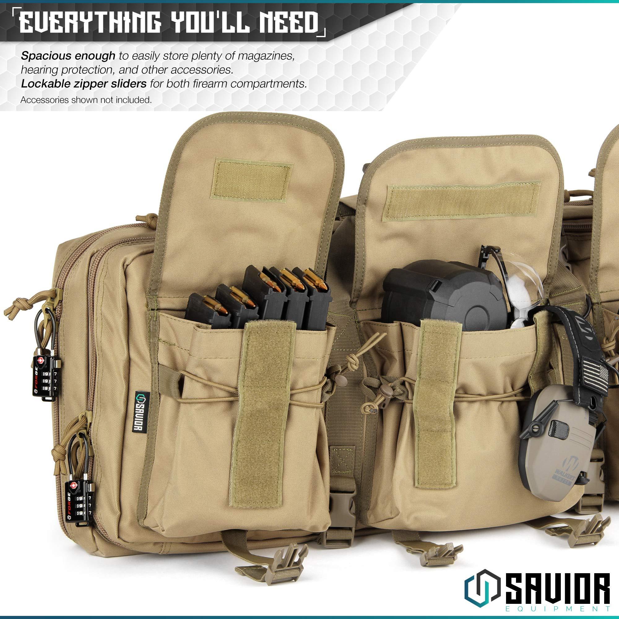 Savior Equipment American Classic Tactical Double Short Barrel Rifle Gun Case Firearm Bag - Suitable for Subgun Bullpups Carbine Shotgun SMG SBR AR AK Pistol, Available Length in 24'' 28'' 32'' by Savior Equipment (Image #5)