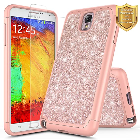 online retailer 7e828 aba40 Amazon.com: Galaxy Note 3 Case with Screen Protector HD Clear for ...