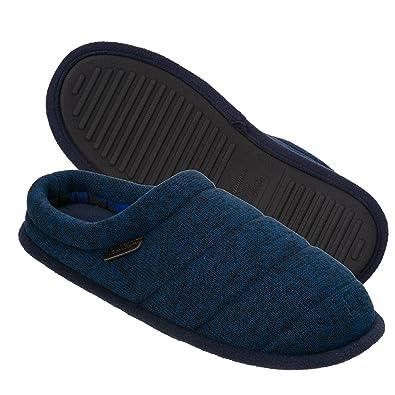 7696d955e Dearfoams Men s Quilted Clog Slipper