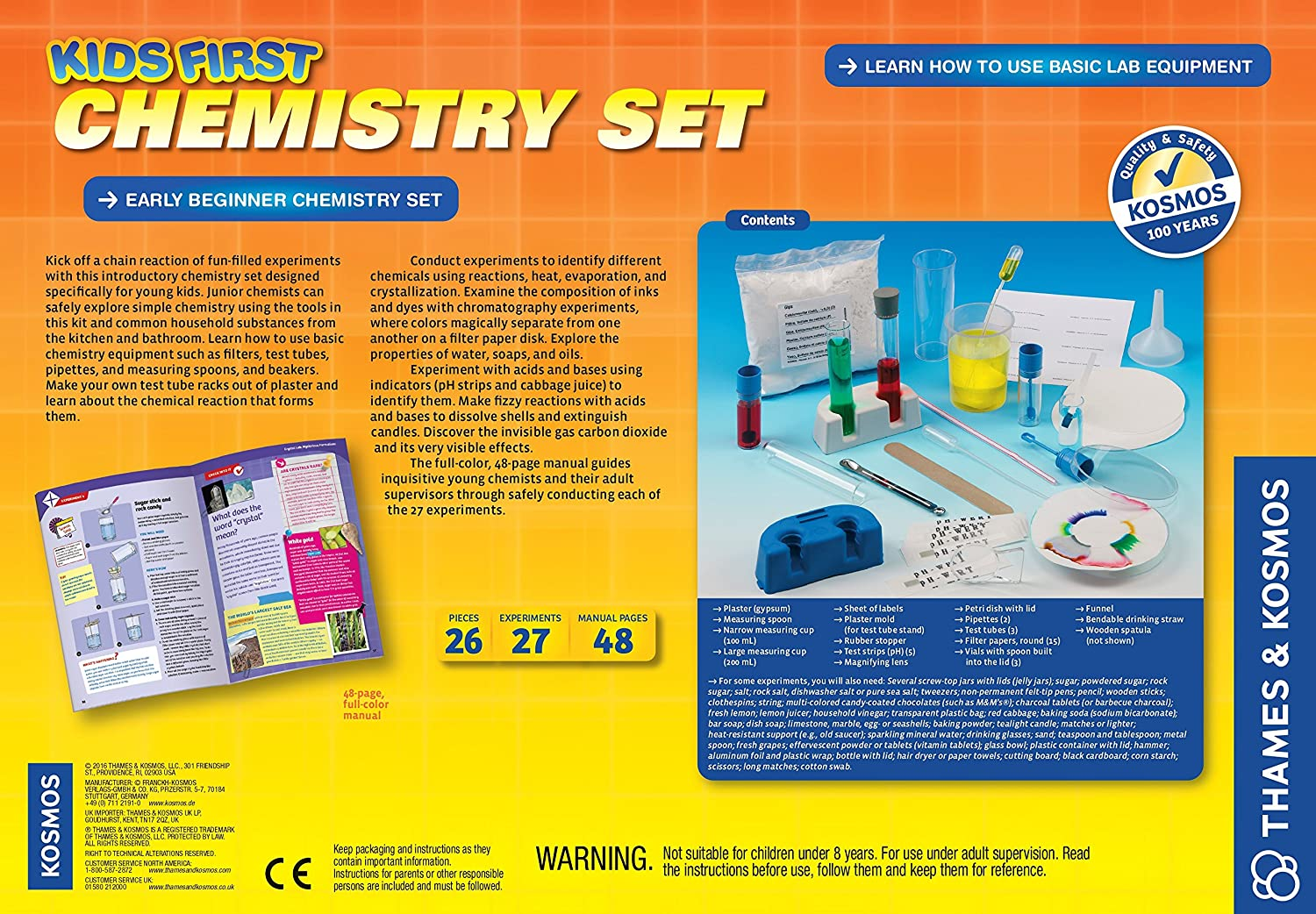 Amazon.com: Thames and Kosmos Kids First Chemistry Set Science Kit: Toys &  Games