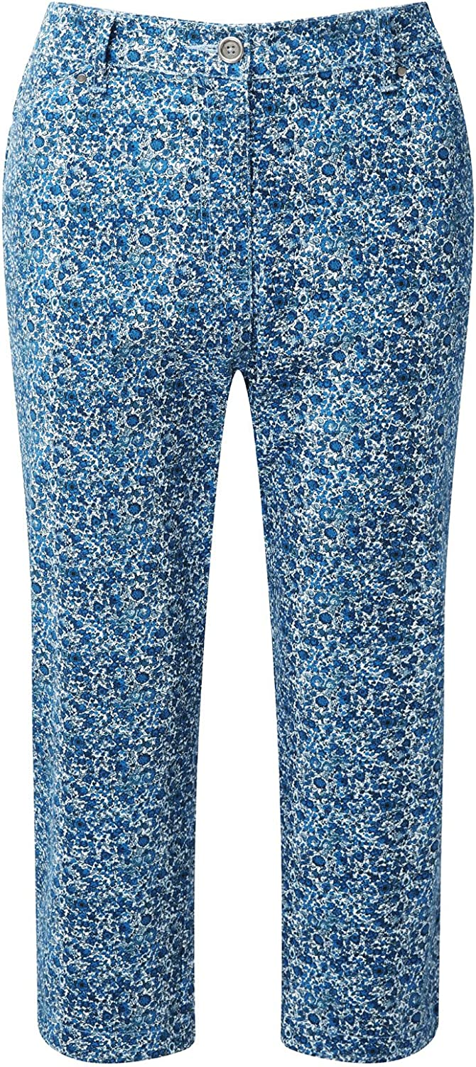 Cotton Traders Chino Crop Trousers Womens Ladies Stretchy Zip Fly Leg 20.5