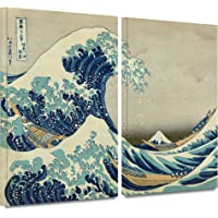 Art Wall Katsushika Hokusai 'The Great Wave Off Kanagaw' - Lona Envuelto en galería, 2 Piezas