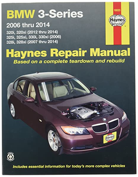 amazon com haynes repair manuals bmw 3 series 2006 2014 18023 rh amazon com BMW 335I Owner's Manual BMW 335I Owner's Manual