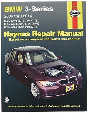 amazon com haynes repair manuals bmw 3 series 2006 2014 18023 rh amazon com BMW 3 Series Hood bmw 328i 2012 owners manual