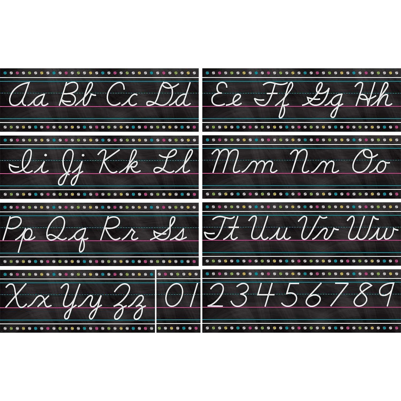 Teacher Created Resources Chalkboard Bright's Cursive Writing Bulletin Board (5858) TEBG3 TCR5858