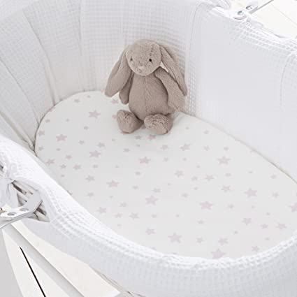 Pink For-your-Little-One Moses Basket Fitted Sheet