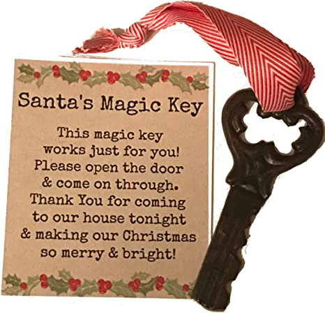 Santa Key Santa/'s Magic Key Christmas ornament Christmas Key sparkly key ornament