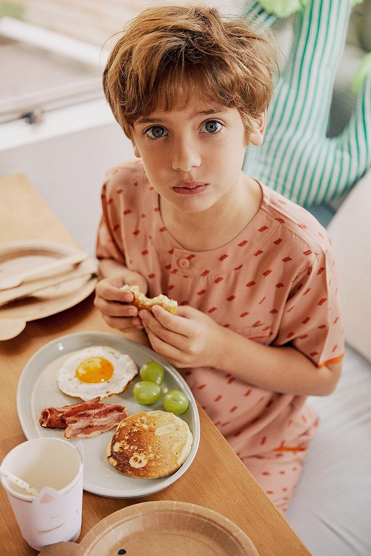 orcite Boys Kids Summer Short Pajama Set Button Down Sleepwear Nightwear pjs Size 2T-12 Years