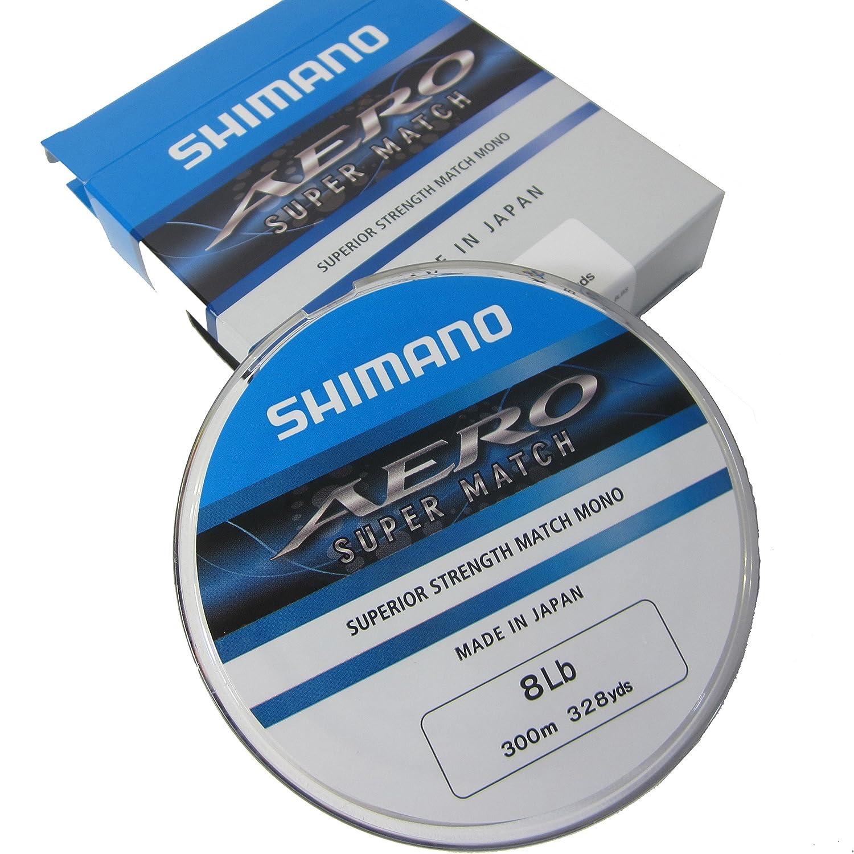 (NEW) SHIMANO AERO SUPER MATCH Monofilament Fishing Line 300m Spools - Superior Strength - 3lb to 10lb