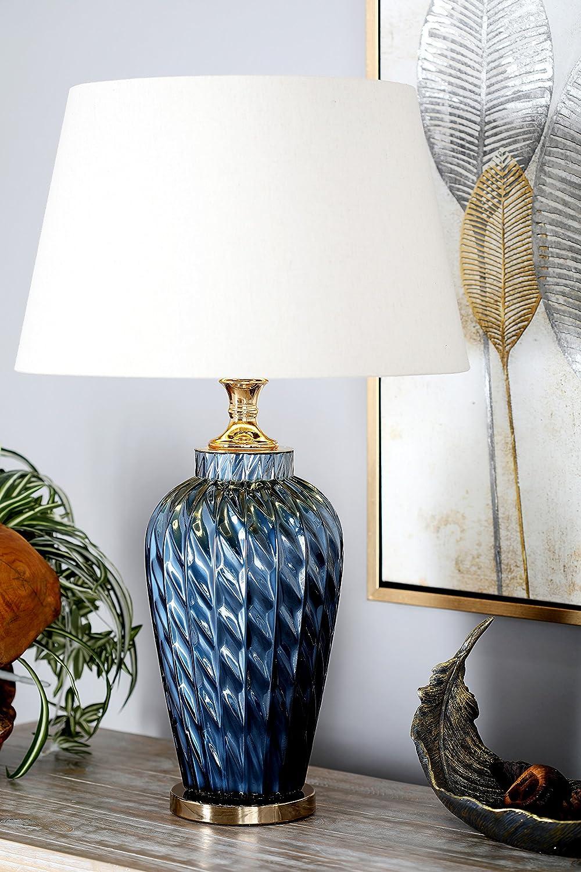 Blue//White//Gold Uma Enterprises Deco 79 39995 Table Lamp