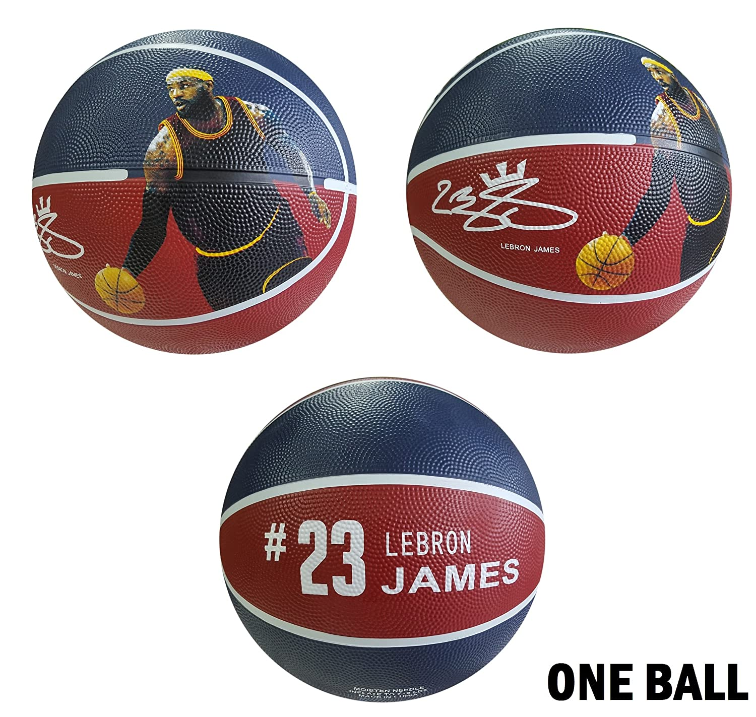 iSport Gifts James Basketball ✓ Size 5 for Kids Adult ✓ Premium Gift Lebron Basketball ✓ Unique Design ✓ Durable Soft Construction