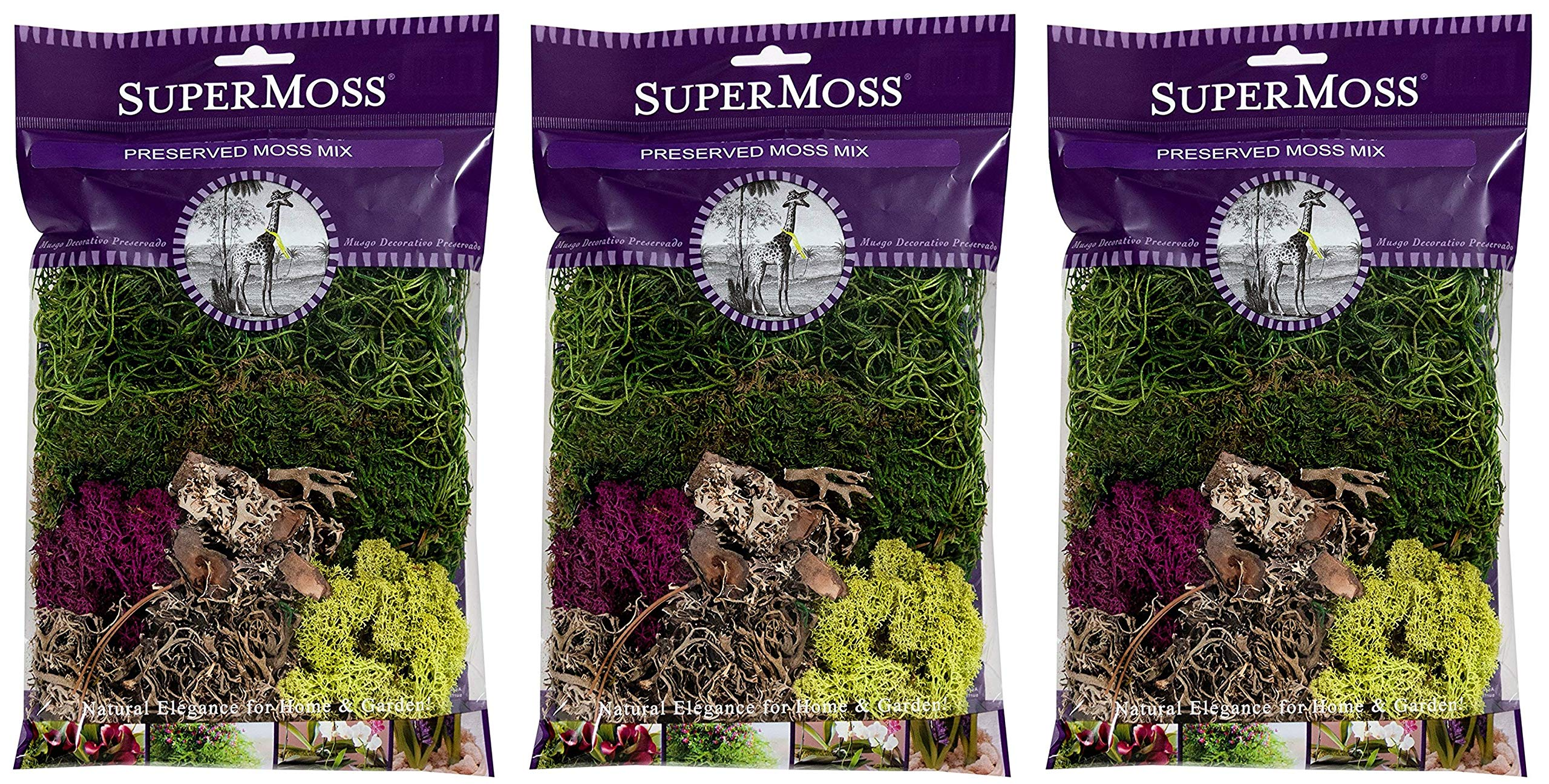 2oz SuperMoss 110 Cubic Inch 23310 Moss Mix Preserved
