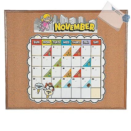 Amazon.com: Paper Superhero Bulletin Board Calendar Kit ...