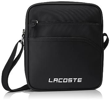 b1a258ec3f Lacoste Sac Homme Access Basic, Porté Épaule, Noir (Black), 26.5x5 ...