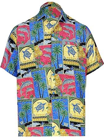 "8fe6b599d LA LEELA Likre Short Sleeves Collar Shirt Matching 1 3XL |Chest  60""-64"""
