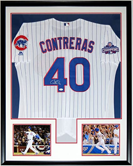 3e35dde5466 Willson Contreras Signed Chicago Cubs 2016 World Series Champions Jersey -  JSA COA Authenticated - Professionally