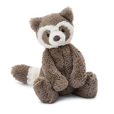 Jellycat Bashful Raccoon Stuffed Animal, Medium, 12 inches: Toys & Games