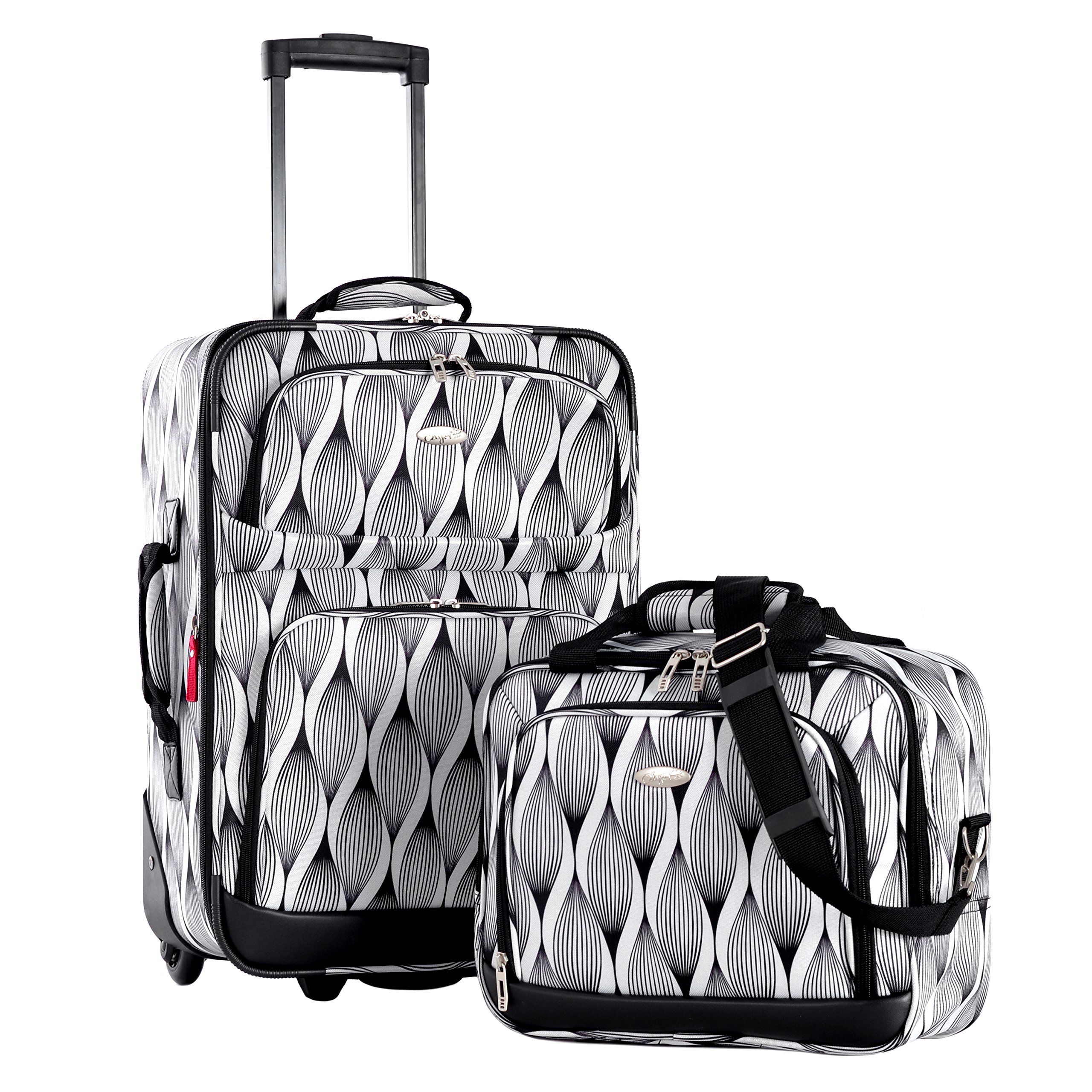 Olympia Let's Travel 2pc Carry-on Luggage Set, Spiral by Olympia