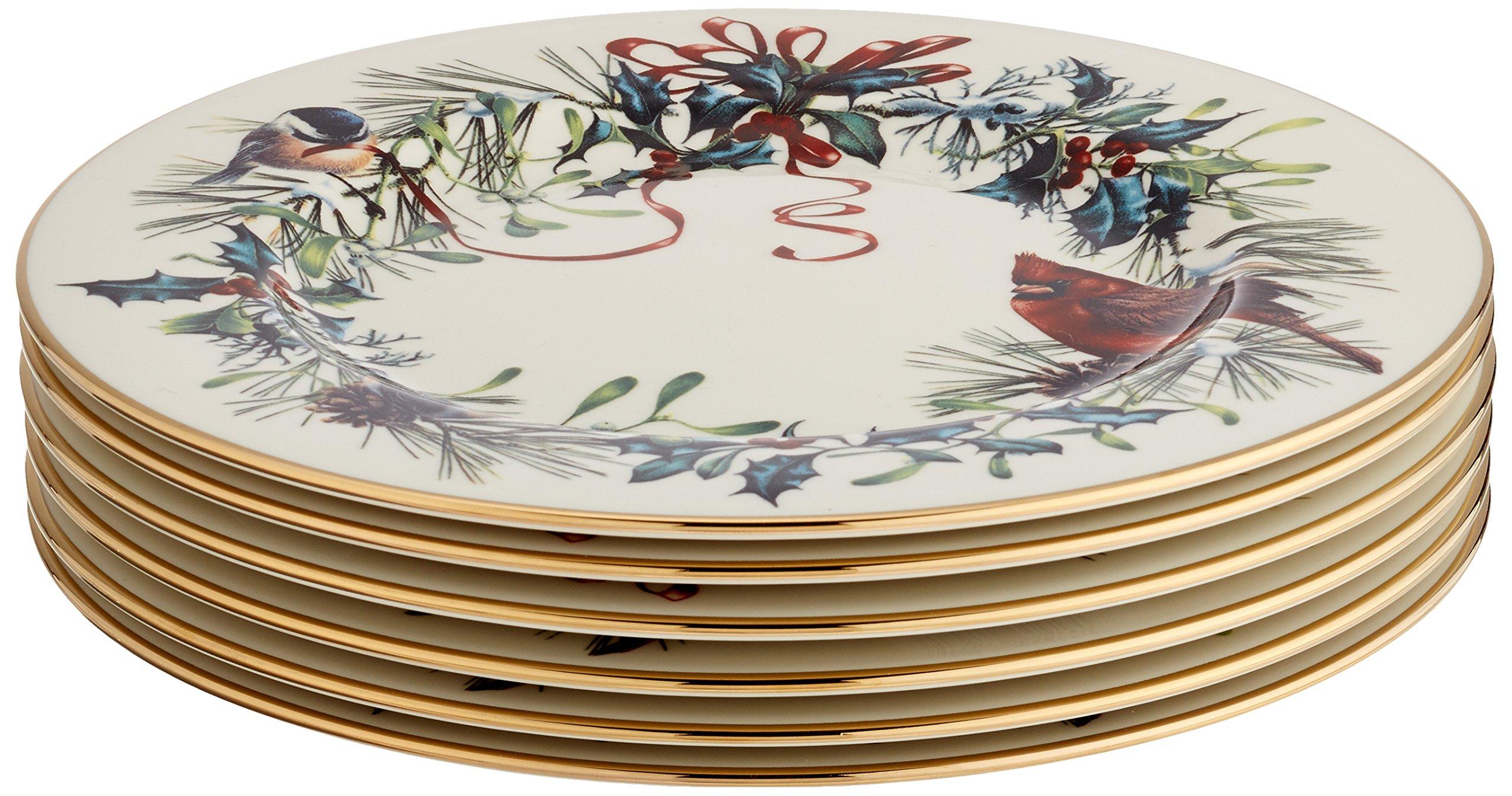 Lenox Winter Greetings Set of 6 Salad Plates,Ivory by Lenox (Image #3)