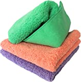 PREMIUM QUALITY MICROFIBRE CLEANING CLOTH 3pc Pack For Polishing, All-Purpose, Home & Car Cleaning By Dunin'Dustid Offers STREAK, LINT, SCRATCH & DUST-FREE Cleaning Without Chemicals, 30.5 x 30.5cm