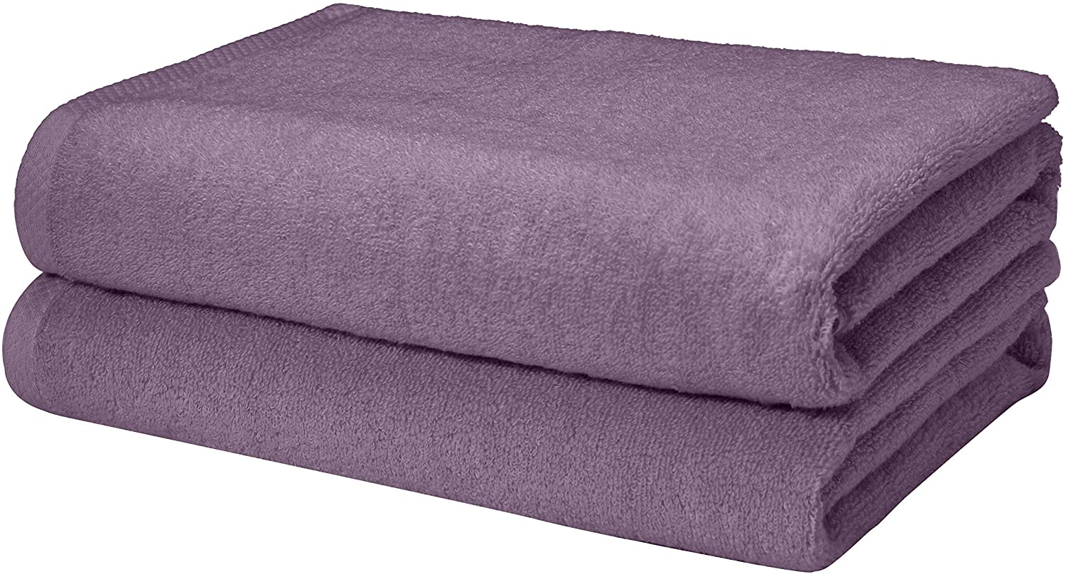 Basics Quick-Dry, Luxurious, Soft, 100% Cotton Towels, Lavender - Set of 2 Bath Towels: Home & Kitchen