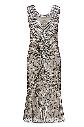 Metme Damen U Hals 1920er Jahre Gatsby Thema Flapper Kleid ...