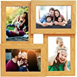 Story@Home Premium Wall Hanging Collage Wooden Photo Frame (30 cm x 30 cm x 3 cm, Beige)