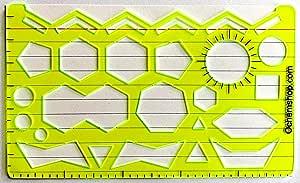 Plantilla de dibujo de química orgánica y plantilla de dibujo: Amazon.es: Belleza
