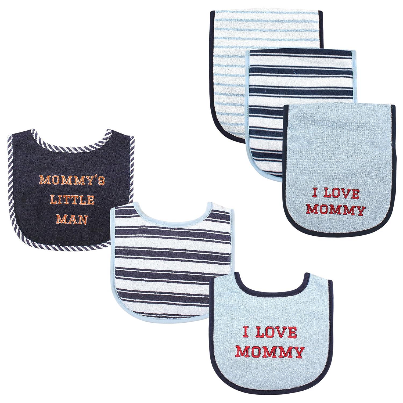 Luvable Friends Baby Bib and Burp Cloth Set 6 Piece