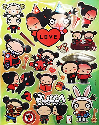 Amazoncom Pucca Funny Love Adorable Sticker Collection 23